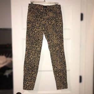 Cheetah print skinny jeans